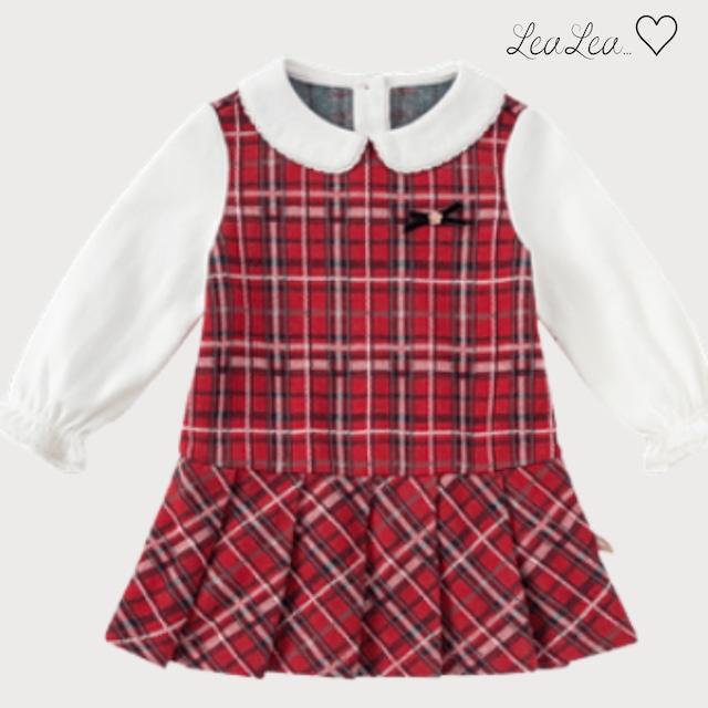 dave&bella2021AW新作♡フリルカラータータンチェックツーピース風ワンピース(73cm-130cm)| LeaLea...♡(レアレア)-海外の子供服セレクトショップ