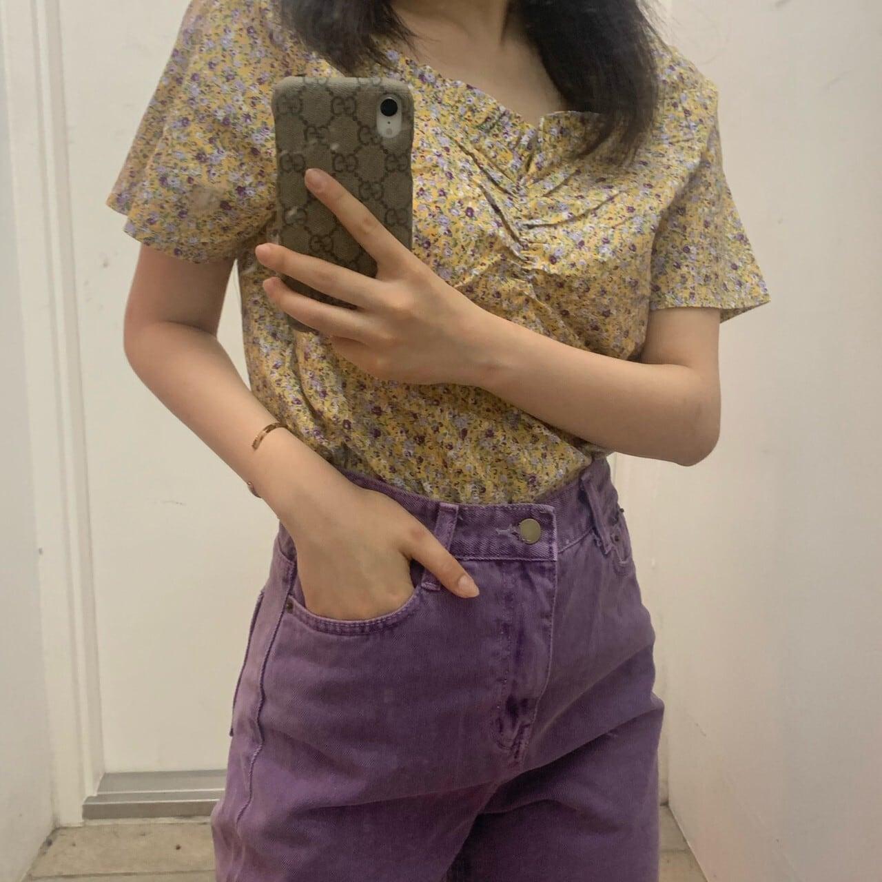 girly neck  blouse