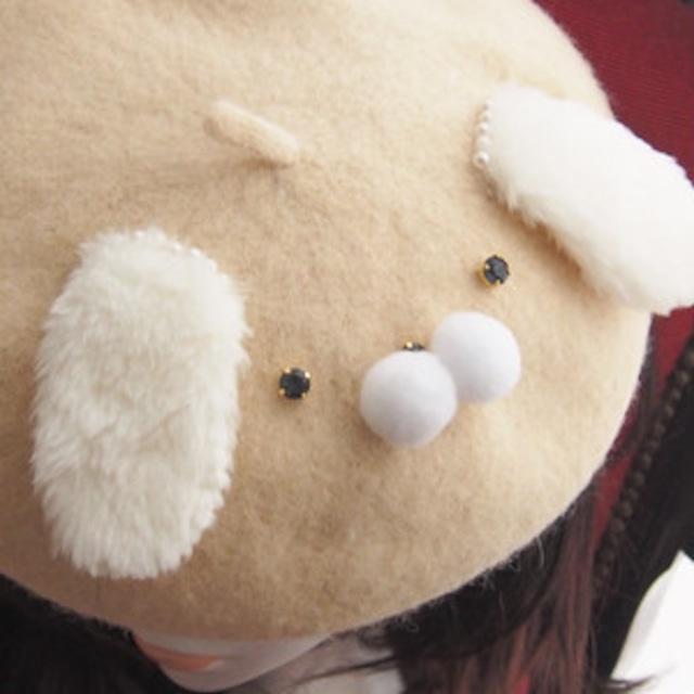 【12/8 21:00】白いわんこのベレー帽