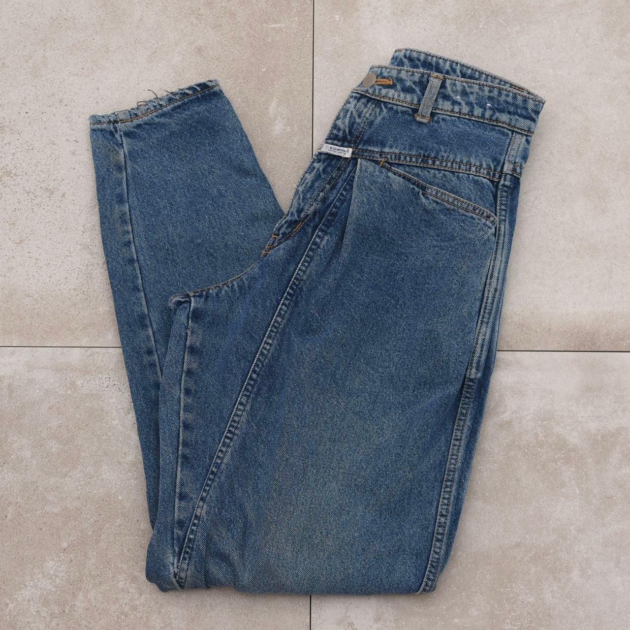 80's〜 EDWIN draping denim tapered pants