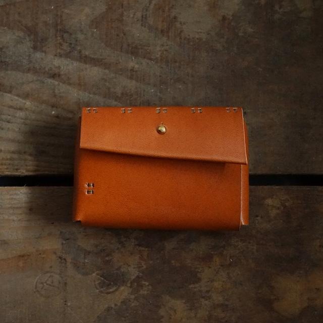 小財布 牛革柿渋染