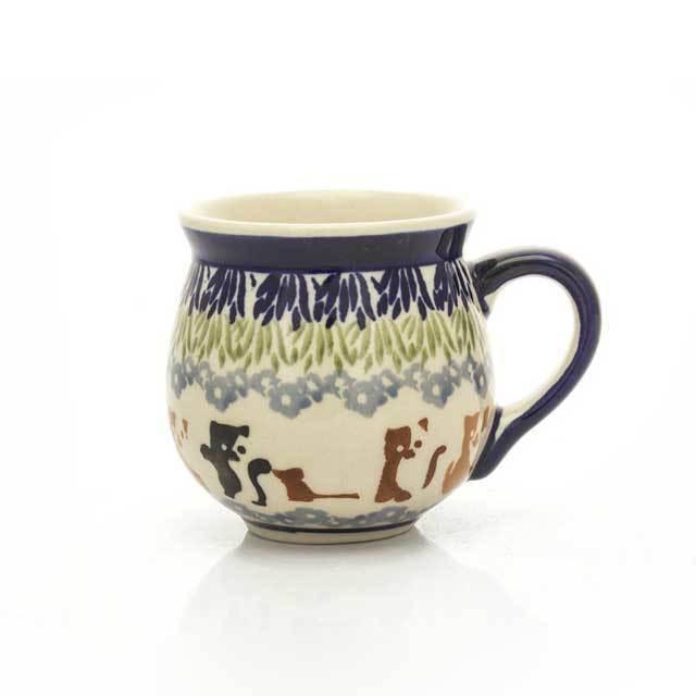 マグカップ どうぶつ柄 ポーランド陶器 ポーリッシュポタリー 北欧 食器