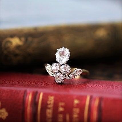Diamond fleur-de-lis Ring フルール・ド・リス ダイヤモンド リング