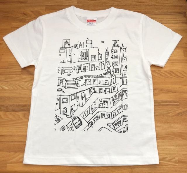 おうちで作ろう!お絵かきTシャツ キット *puzzle city*レディースM,L対応 送料無料