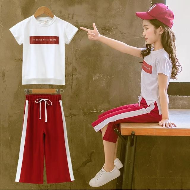 【子供服】 女の子 セットアップ オシャレ ダンス 韓国 130 140 150 160 目立つ 動きやすい ゆったり