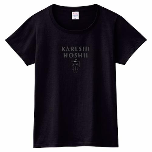 とうふめんたるずTシャツ(あんずちゃん・レディース・黒)
