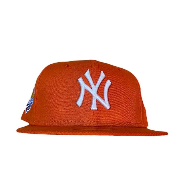NEW ERA New York Yankees 1999 World Series 59Fifty Fitted / Orange×White (Pink Brim)