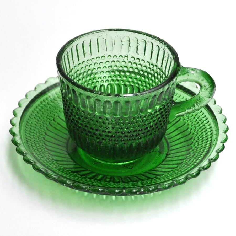 EREACHE PUEBLA GLASS エレアチェ カップ&ソーサー メキシコ プエブラ