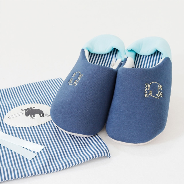 【moz】スリッパ袋付き(ブルー)