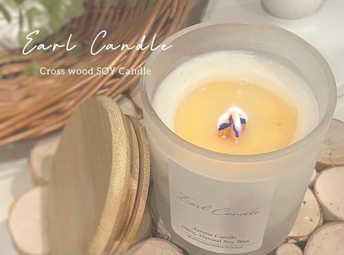 【Earl Candle】グラスアロマソイキャンドル