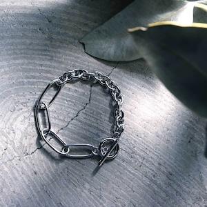 Y1909KHB5262【YArKA/ヤーカ】silver925 mix chain bracelet [HB1]/ミックスチェーンブレスレット シルバー925