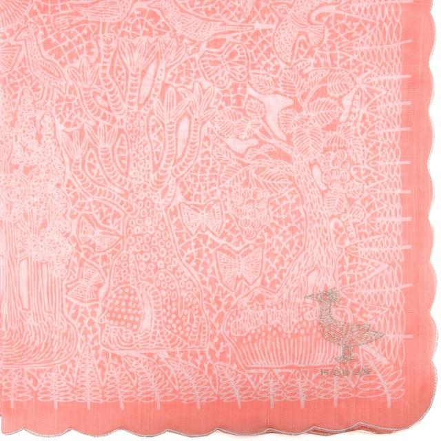 透明の国/ ピンク【ひびのこづえ】 ハンカチ