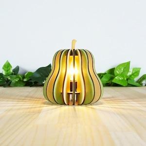 「洋梨」木製フロアランプ