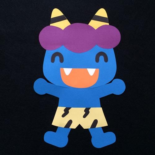 かわいい鬼(青)の壁面装飾