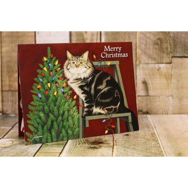 メリークリスマスグリーティングカード/ネコ/浜松雑貨屋 C0pernicus