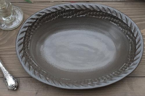 【倉敷堤窯・武内真木】▪︎耐熱ウェア▪︎ <楕円オーブン鉢(小)>
