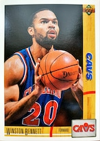 NBAカード 91-92UPPERDECK Winston Bennett #247 CAVS
