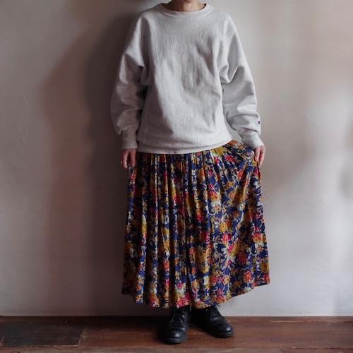 Flowers Pattern Rayon Skirt / 花柄 レーヨン スカート