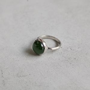 Round Stone Ring (Nephrite) [WM-RG041]