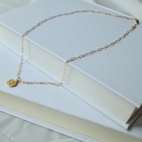 K14GF Coin Charm Necklace [WM-NK501]