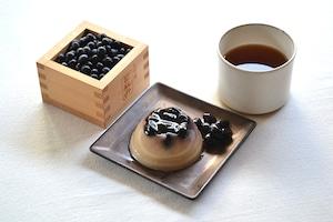 Sawatari Sweets - ほうじ茶と黒豆のパンナコッタ