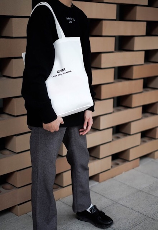 """18a/w """"i can only imagine""""  tote bag White"""