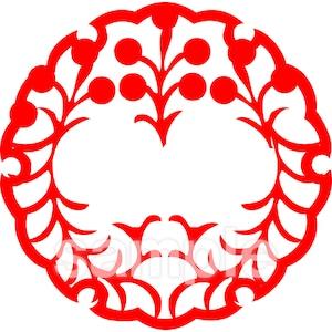 花かんざし紋 3月・菜の花(電子印鑑)