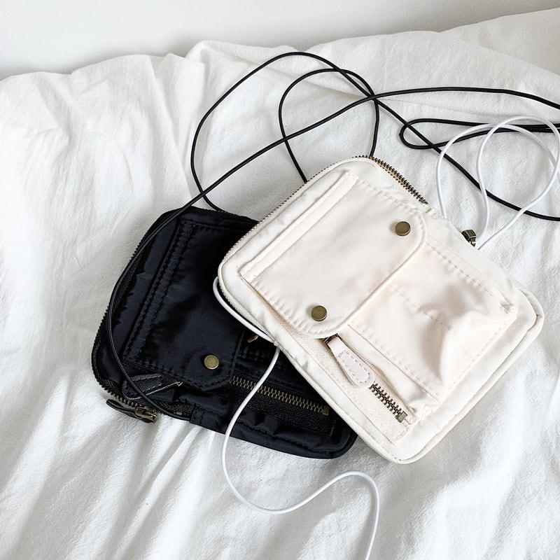Nylon cross shoulder bag   a-461