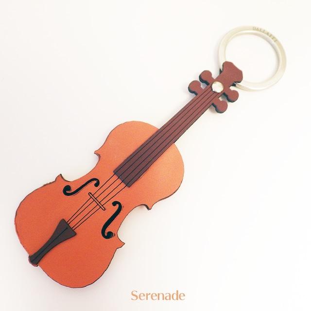 イタリア製 バイオリン レザーキーホルダー 本革 DALLAITI