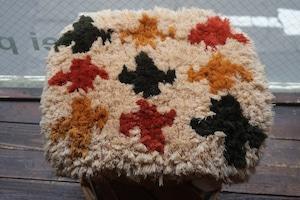 ◆◆【佐藤さんのノッティング◆手織りの椅子敷】◆(大) ◆NEW◆