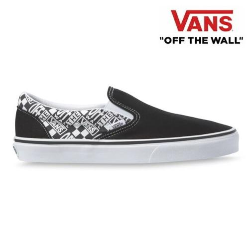 VANS バンズ ヴァンズ スリッポン スニーカー メンズ CLASSIC SLIP-ON (Off The Wall) Black/Asphalt