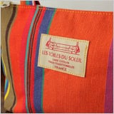 【LES TOILES DU SOLEIL】 ZIP付きミニトート(プチ カプリ ブラン ターコイズ/PETIT CAPRI Blanc Turquoise )