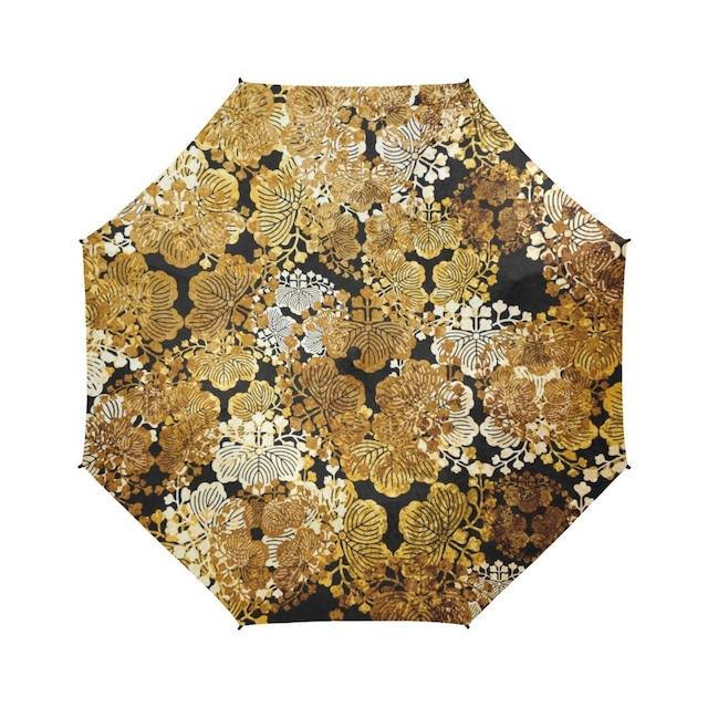 家紋装飾ゴールド 折りたたみ傘