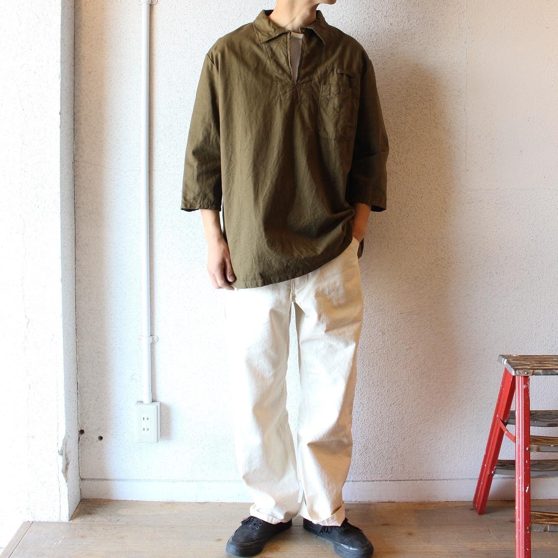 Czech Army  / Deadstock 3/4 Sleeve Pullover Shirts(デッドストック 7分袖プルオーバーシャツ)