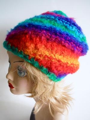 フワフワニット帽A   <M57〜59cm>