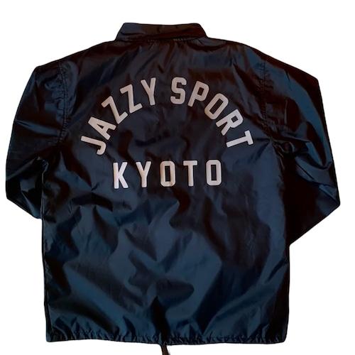 【残りわずか】JS KYOTO リフレクターロゴ コーチジャケット/ブラック