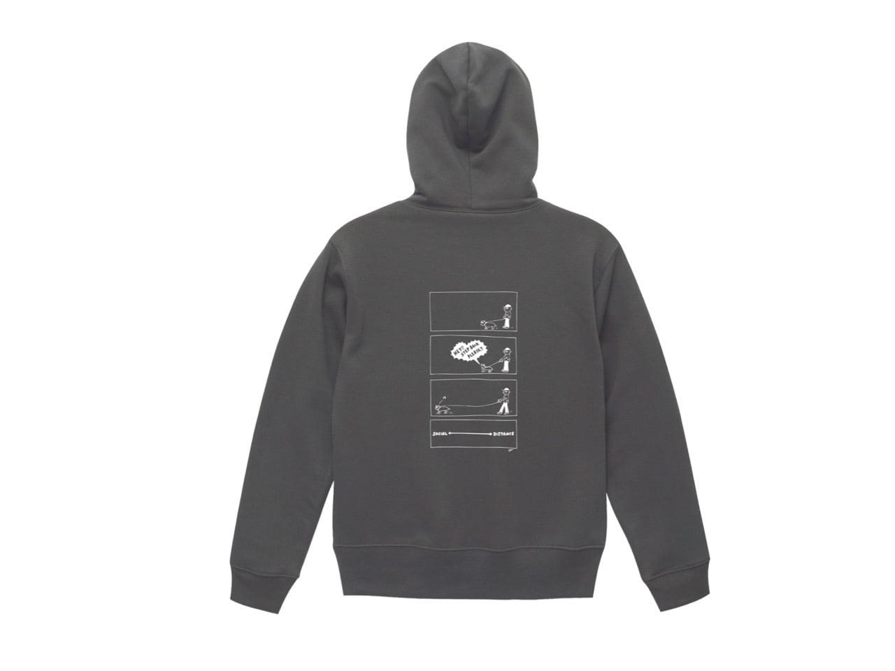 SHI × coguchi Dog SD hoodie (SMT/WH)