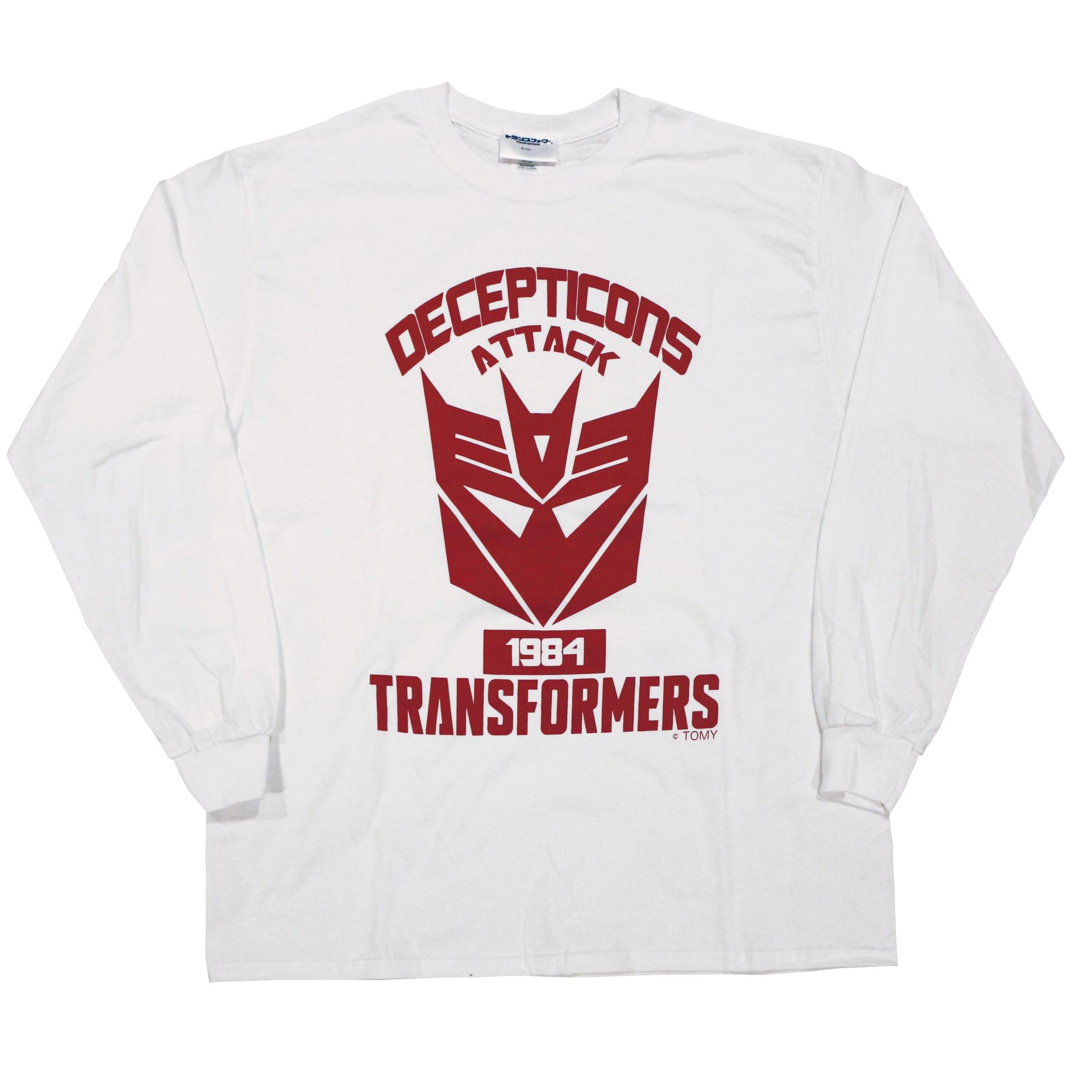 【トランスフォーマー】戦え!超ロボット生命体トランスフォーマー|デストロンエンブレム ロングスリーブTシャツ