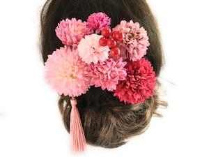 大人のピンク色*可愛い花かんざし9点セット