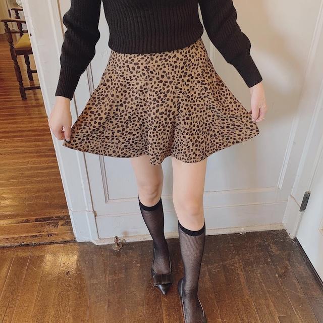 10/22【NEW】leopard mini skirt