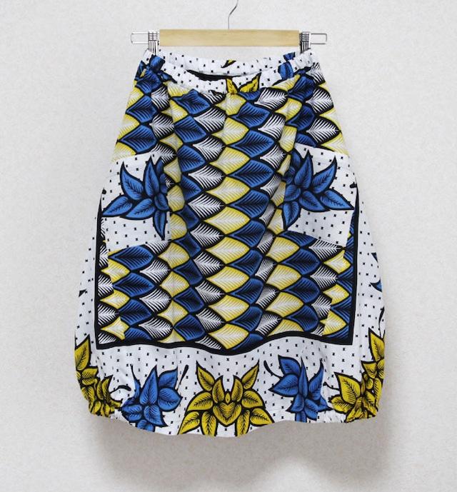 カンガのバルーンスカート|アフリカ布スカート / カンガスカート / コクーンスカート