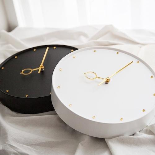gold lucky wall clock 2colors / ゴールド ラッキー ウォールクロック 壁掛け時計 無音 韓国 インテリア 雑貨