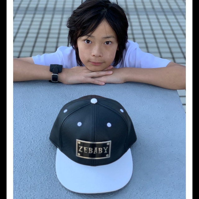 ZEBABY METAL PLATE LEATHER CAP(税込み)