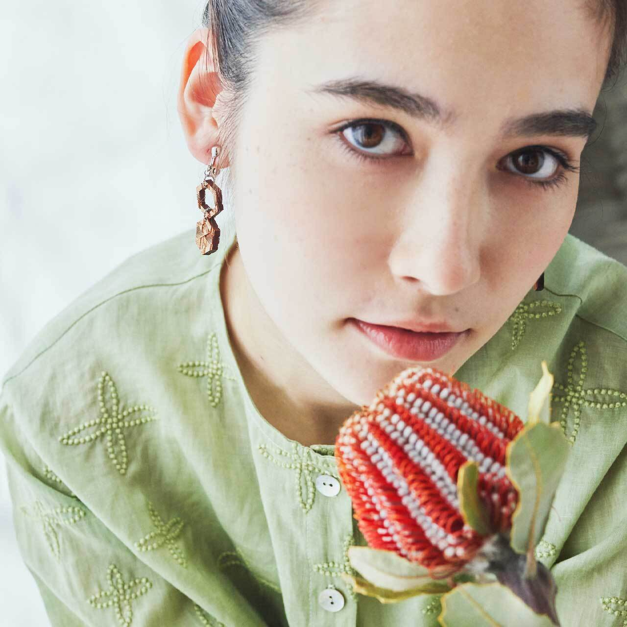 honeycomb / ハニカム(Pierced Earring Hang)