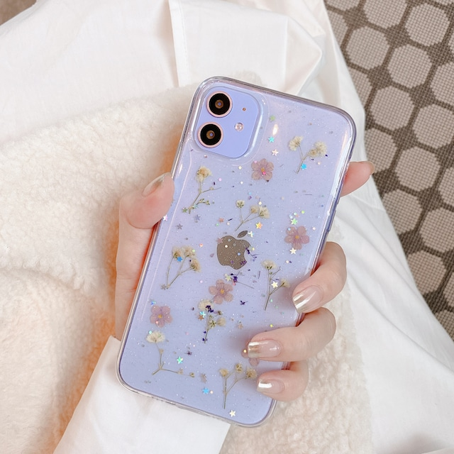 Pink dried flower iphone case