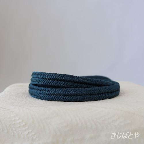正絹ゆるぎ帯締め 青藍