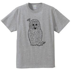 『カラフトフクロウの迷路』Tシャツ