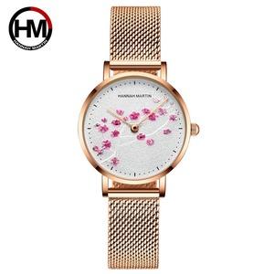 日本クォーツムーブメント10D赤梅本革バンド女性の腕時計レディース腕時計新デザインは、女性の1324WFF
