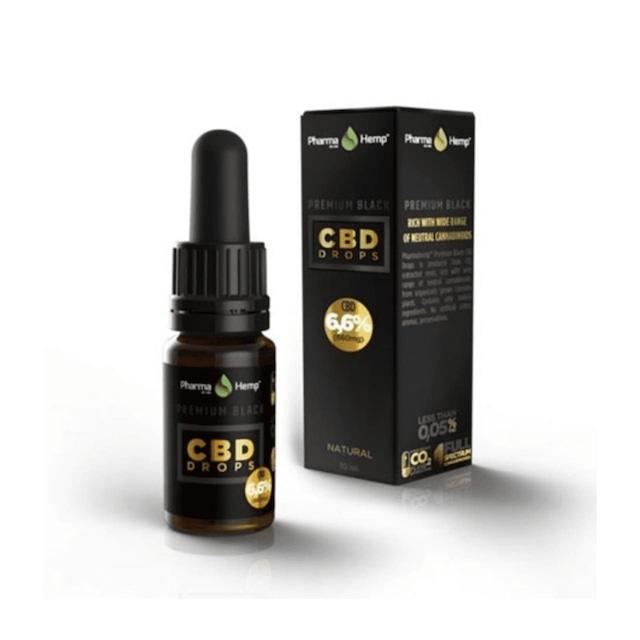 【送料無料】ファーマヘンプ(PharmaHemp) - CBDオイルプレミアムブラック660mg/10ml