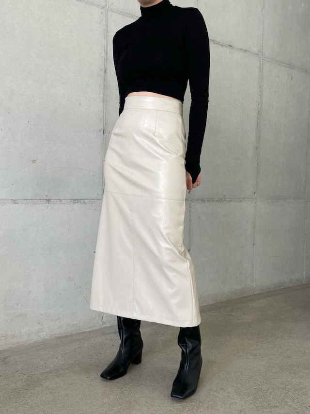 【WOMENS - 2 Size】EDDY SKIRT LEATHER / 2colors